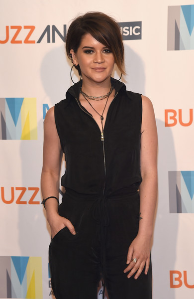 Maren Morris Bangle Bracelet [clothing,hairstyle,fashion,fashion design,long hair,outerwear,premiere,event,carpet,dress,maren morris,music biz,nashville,tennessee,renaissance nashville hotel,buzzangle music,music biz 2017 awards luncheon]