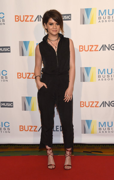 Maren Morris Strappy Sandals [clothing,red carpet,carpet,fashion,shoulder,dress,flooring,footwear,fashion design,premiere,maren morris,music biz,nashville,tennessee,renaissance nashville hotel,buzzangle music,music biz 2017 awards luncheon]