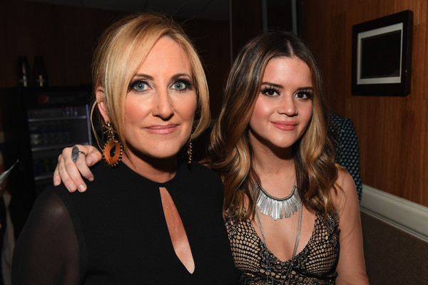 Maren Morris Silver Statement Necklace [lady,beauty,fashion,blond,event,fun,party,nightclub,little black dress,brown hair,aimp nashville awards,nashville,tennessee,lee ann womack,maren morris]