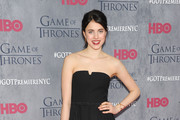 Margaret Qualley Strapless Dress
