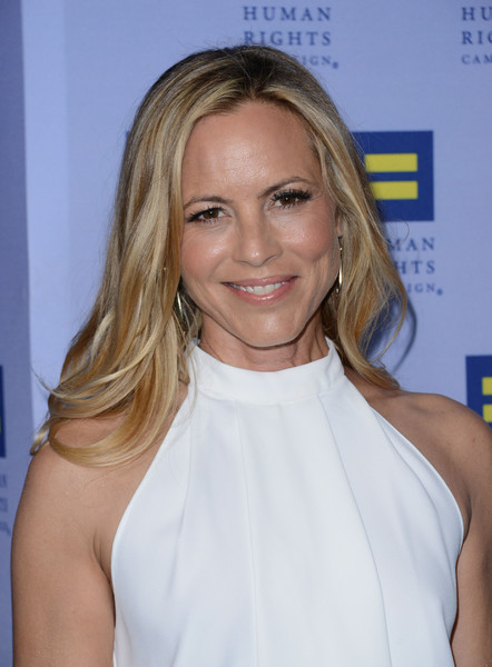 Maria Bello Long Wavy Cut [hair,blond,face,hairstyle,shoulder,eyebrow,beauty,chin,lip,long hair,maria bello,chris delmas,los angeles,california,human rights campaign,gala dinner,afp,show]