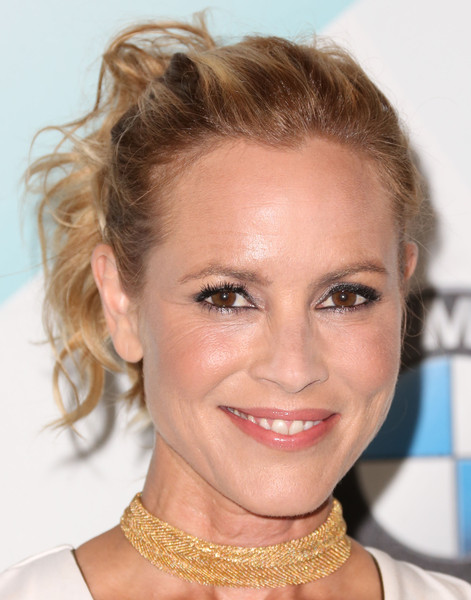 Maria Bello Ponytail [maria bello,women in film 2015 crystal lucy awards,hair,face,eyebrow,hairstyle,blond,chin,lip,skin,forehead,beauty,california,los angeles,hyatt regency century plaza hotel]
