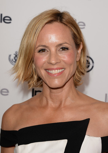 Maria Bello Layered Razor Cut [maria bello,hair,face,hairstyle,shoulder,blond,eyebrow,beauty,skin,chin,joint,instyle summer soiree - arrivals,instyle summer soiree,hotel,mondrian,west hollywood,california]