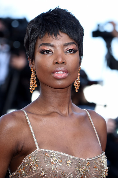 Maria Borges Pixie [rocket man,hair,face,hairstyle,eyebrow,beauty,skin,lip,black hair,shoulder,fashion model,maria borges,rocketman red carpet,screening,cannes,france,the 72nd annual cannes film festival]