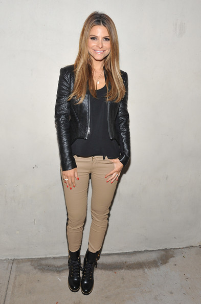 Maria Menounos Lace Up Boots