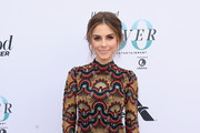 Maria Menounos Embroidered Dress