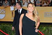 Mariah Carey One Shoulder Dress