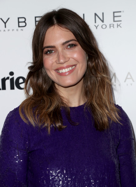 Mandy Moore sported a boho center-parted 'do at the Marie Claire Fresh Faces celebration.
