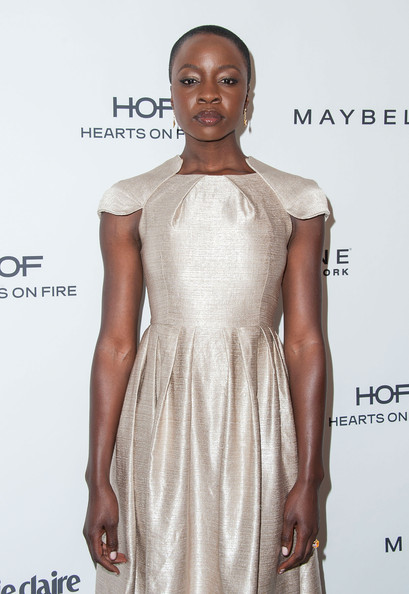 More Pics of Danai Gurira Buzzcut (1 of 5) - Danai Gurira Lookbook - StyleBistro [danai gurira,marie claires,marie claires fresh faces party,white,clothing,dress,cocktail dress,shoulder,fashion model,fashion,hairstyle,fashion design,premiere,soho house,west hollywood,california,fresh faces party]