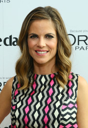 Natalie Morales sweetened up her look with corkscrew curls when she attended the Marie Claire Power Women Lunch.