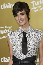 Paz Vega attended the Marie Claire Prix de la Moda rocking side-swept bangs.