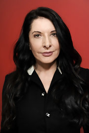 Marina Abramovic styled her hair in romantic waves at the Sundance Film Festival.