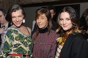 (L-R) Actress Milla Jovovich, Consuelo Castiglioni and actress Drew Barrymore attend the Marni at H&M Collection Launch at Lloyd Wright?s Sowden House on February 17, 2012 in Los Angeles, California.