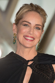 Sharon Stone topped off her look with an edgy updo when she attended the Marrakech International Film Festival opening ceremony.