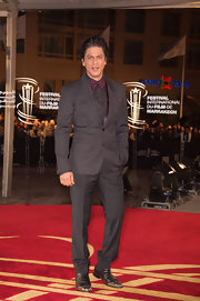 Shahrukh Khan oozed confidence in his elegant black tux at the Marrakech International Film Festival.