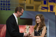 Isabelle Huppert and James Gray Photo