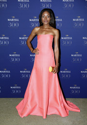Naomie Harris got majorly sweet in a floor-sweeping pink strapless gown by Roksanda for the Martell Cognac 300th anniversary party.