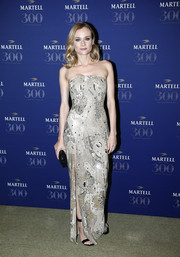 Diane Kruger kept it sleek and elegant in an embellished strapless column dress by Jason Wu at the Martell Cognac 300th anniversary party.