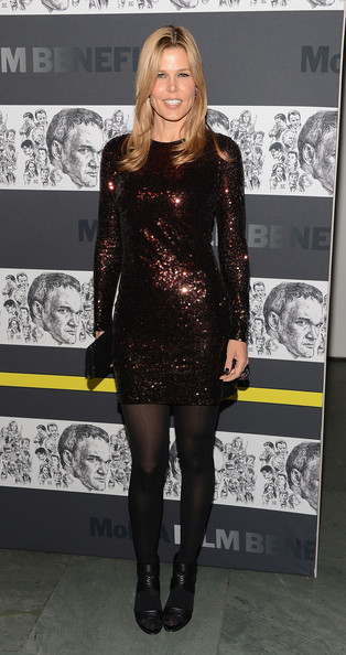 Mary Alice Stephenson Beaded Dress [museum of modern art film benefit honoring quentin tarantino,inside arrivals,mary alice stephenson,clothing,dress,tights,little black dress,fashion model,fashion,cocktail dress,leg,footwear,thigh,the museum of modern art film benefit honoring quentin tarantino,new york city,moma]