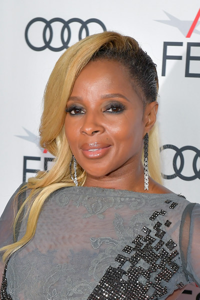 Mary J. Blige Long Side Part