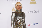 Mary J. Blige Metallic Clutch