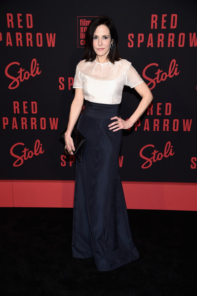 Mary-Louise Parker Leather Clutch [clothing,dress,premiere,carpet,fashion,flooring,shoulder,fashion model,gown,event,mary louise parker,red sparrow,new york,alice tully hall,premiere,new york premiere]