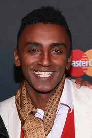 Marcus Samuelsson wore his curly hair in a cute hightop fade during Justin Timberlake's concert.