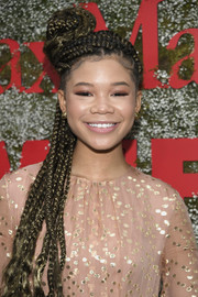 Storm Reid rocked box braids at the InStyle Max Mara Women in Film celebration.