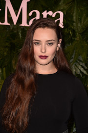 Katherine Langford styled her long tresses with just a hint of wave for the Max Mara WIF Face of the Future event.