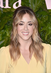 Chloe Bennet went retro-glam with this half-up hairstyle at the Max Mara WIF Face of the Future event.