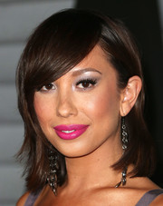 Cheryl Burke looked ultra feminine with her hot-pink lipstick.