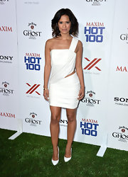 Rocsi Diaz opted for a totally Grecian-inspired toga-like dress for the Maxim Hot 100 Party.