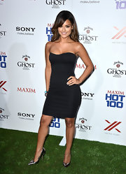Pia opted for a minimal but chic black strapless dress for her look at Maxim's Hot 100 party.