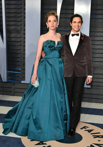 Maya Hawke Strapless Dress [oscar party,vanity fair,l,gown,dress,clothing,formal wear,fashion model,fashion,bridal party dress,haute couture,shoulder,suit,beverly hills,california,wallis annenberg center for the performing arts,radhika jones - arrivals,maya hawke,radhika jones,zac posen]