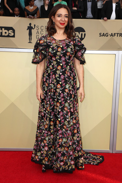 Maya Rudolph Embroidered Dress