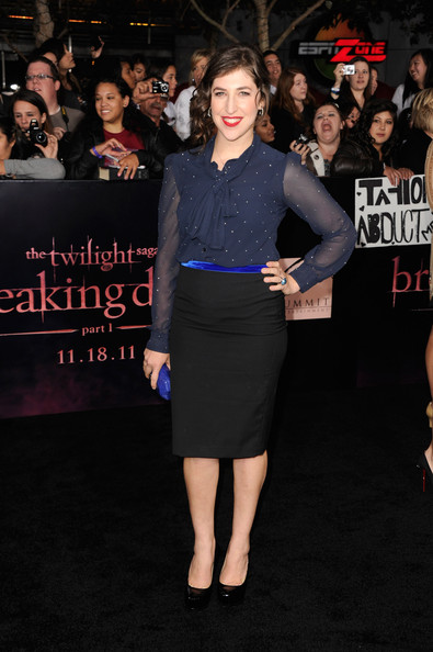 Mayim Bialik Fitted Blouse
