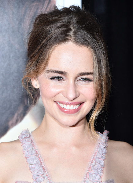 Emilia Clarke topped off her look with this messy-sexy updo for the world premiere of 'Me Before You.'