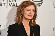 Susan Sarandon looked fabulous with her messy waves and side-swept bangs at the Tribeca Film Fest premiere of 'The Meddler.'