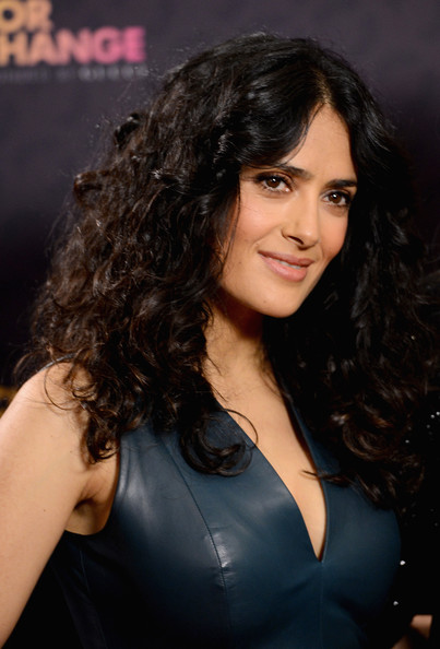 More Pics of Salma Hayek Leather Dress (1 of 11) - Salma Hayek Lookbook - StyleBistro