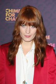 Florence Welch's ginger-snap locks looked rich and full of life at the 'Chime for Change: The Sound of Change Live' Concert.