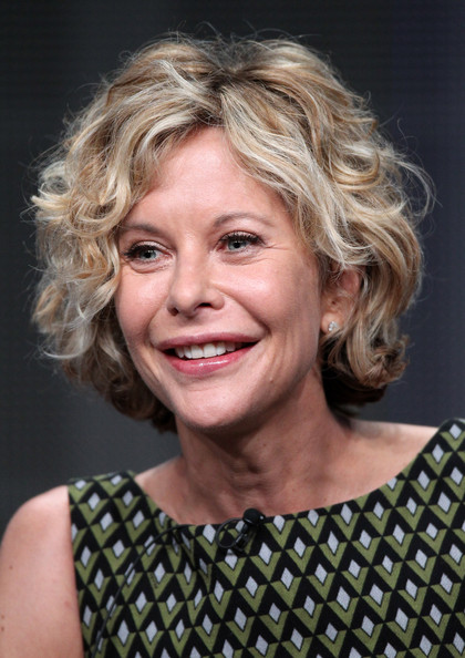 Meg Ryan Curled Out Bob [hair,face,hairstyle,blond,chin,eyebrow,smile,forehead,lip,human,meg ryan,participant,half the sky,portion,special presentation of independant lens,beverly hilton hotel,california,los angeles,pbs,summer tca]