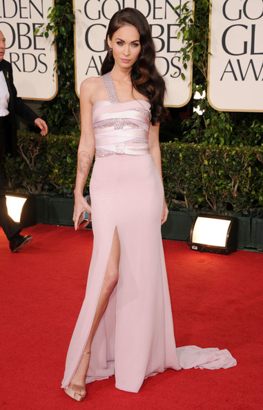 b9f305ee8 Megan Fox Goes Glam in an Armani Prive Gown at the Golden Globes 2011