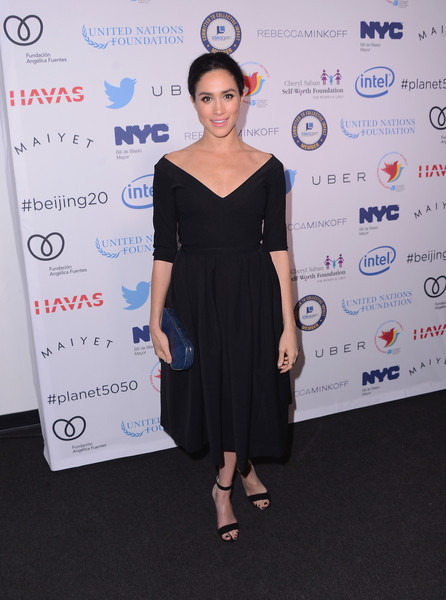 Meghan Markle Off-the-Shoulder Dress