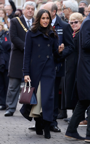 Meghan Markle Wool Coat [coat,suit,fashion,standing,outerwear,street,event,formal wear,official,uniform,harry,meghan markle,terrance higgins trust world aids day,actor,engagement,fashion,clothing,nottingham,nottingham contemporary,charity,meghan duchess of sussex,prince harry,catherine duchess of cambridge,wedding of prince harry and meghan markle,strathberry,united kingdom,fashion,actor,clothing]