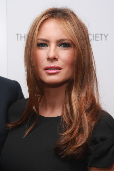 Melania Trump Long Wavy Cut [cheri,hair,face,hairstyle,blond,eyebrow,chin,long hair,layered hair,lip,brown hair,melania knauss trump,screening,noilly prat,new york city,the cinema society,directors guild of america theater,cinema society noilly prat screening of ``cheri - inside arrivals]
