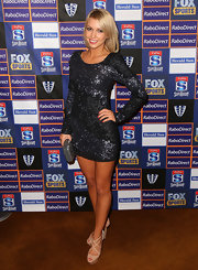 Bridget Bauman finished off her sexy Melbourne Rebels Winter Ball attire with nude strappy sandals.