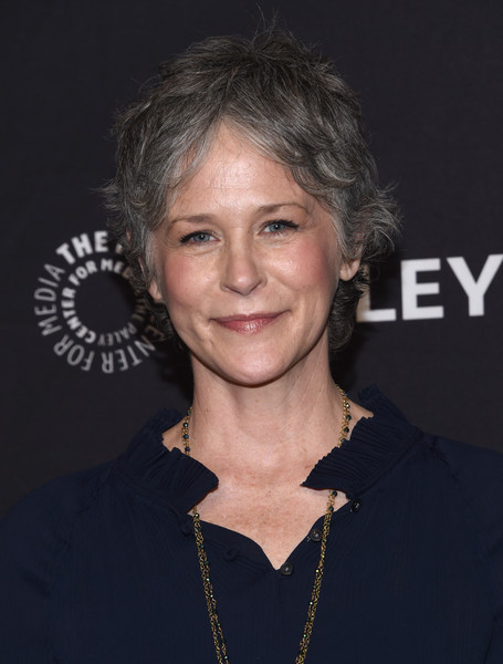 Melissa McBride Messy Cut [the walking dead,photo,hair,hairstyle,chin,premiere,layered hair,smile,arrivals,melissa mcbride,red carpet,los angeles,hollywood,paley center for media,paleyfest,opening night presentation]