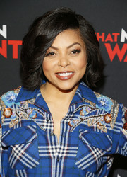 Taraji P. Henson went for an old-school bob at the special Washington, D.C. screening of 'What Men Want.'