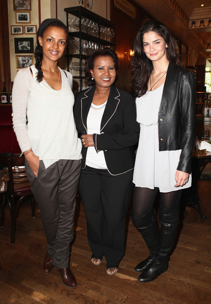 Shermine Shahrivar was spotted wearing a leather jacket at the Menschen Fuer Menschen charity event.