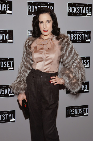 More Pics of Dita Von Teese Medium Wavy Cut (1 of 5) - Medium Wavy Cut Lookbook - StyleBistro
